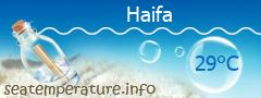 טמפרטורת המים בחיפה