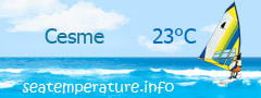 Sea water temperature