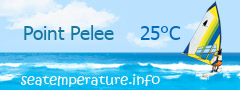 Lake Erie water temperature near Point Pelee, ON